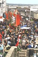 Market Jew Street on Mazey Day